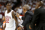 FAYETTEVILLE, AR - NOVEMBER 30:  Jacorey Williams #22 of the Arkansas Razorbacks looks toward the coaches during a game against the Syracuse Orangemen at Bud Walton Arena on November 30, 2012 in Fayetteville, Arkansas.  The Orangemen defeated the Razorbacks 91-82.  (Photo by Wesley Hitt/Getty Images) *** Local Caption *** Jacorey Williams