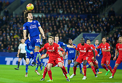 LEICESTER, ENGLAND - Monday, February 1, 2016: Leicester City's Shine Okazaki in action against Liverpool during the Premier League match at Filbert Way. (Pic by David Rawcliffe/Propaganda)