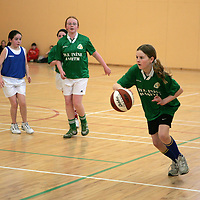 Shauna Dillon in action for Corofin/Kilnaboy against Parteen in the U13 girls basketball community games in St. Flannan's college Ennis on Saturday.  <br />Pic: Don Moloney / Press 22