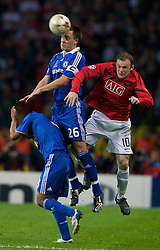 MOSCOW, RUSSIA - Wednesday, May 21, 2008: Manchester United's Wayne Rooney and Chelsea's captain John Terry during the UEFA Champions League Final at the Luzhniki Stadium. (Photo by David Rawcliffe/Propaganda)