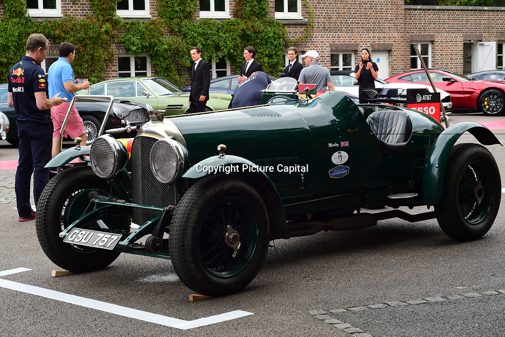 Bentley classic display at the 2018 Grand Prix Ball held at The Hurlingham Club on July 4, 2018 in London, England.