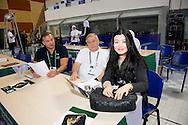 Alexey Vlasenko TDC Vice Chairman and Cornel Marculescu Executive director<br /> FINA/NVC Diving World Series 2016 Dubai<br /> Hamdan Sport Complex -Dubai United Arab Emirates U.A.E. UAE<br /> March 17 -19 2016<br /> Day 2 March 17th<br /> Photo G.Scala/Insidefoto/Deepbluemedia