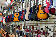 Hollywood, CA, Boulevard, Guitar Store, entertainment, tourist, attractions, Los Angeles, Ca,