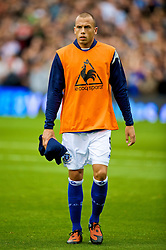 LONDON, ENGLAND - Sunday, September 13, 2009: Everton's substitute John Heitinga before the Premiership match against Fulham at Craven Cottage. (Photo by David Rawcliffe/Propaganda)