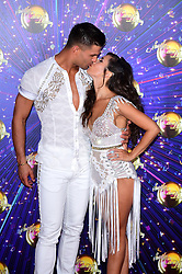 Aljaz Skorjanec and Janette Manrara arriving at the red carpet launch of Strictly Come Dancing 2019, held at BBC TV Centre in London, UK.
