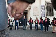 Roma, 28/10/2017: Marcia di preghiera per i 500 anni dalla Riforma Protestante. Chiesa Metodista di Ponte Sant'Angelo.<br /> &copy; Andrea Sabbadini