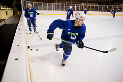 Zan Jezovsek during practice session of Slovenian Ice Hockey National Team at training camp, on February 8th, 2016 in Ledna dvorana, Bled, Slovenia. Photo by Vid Ponikvar / Sportida
