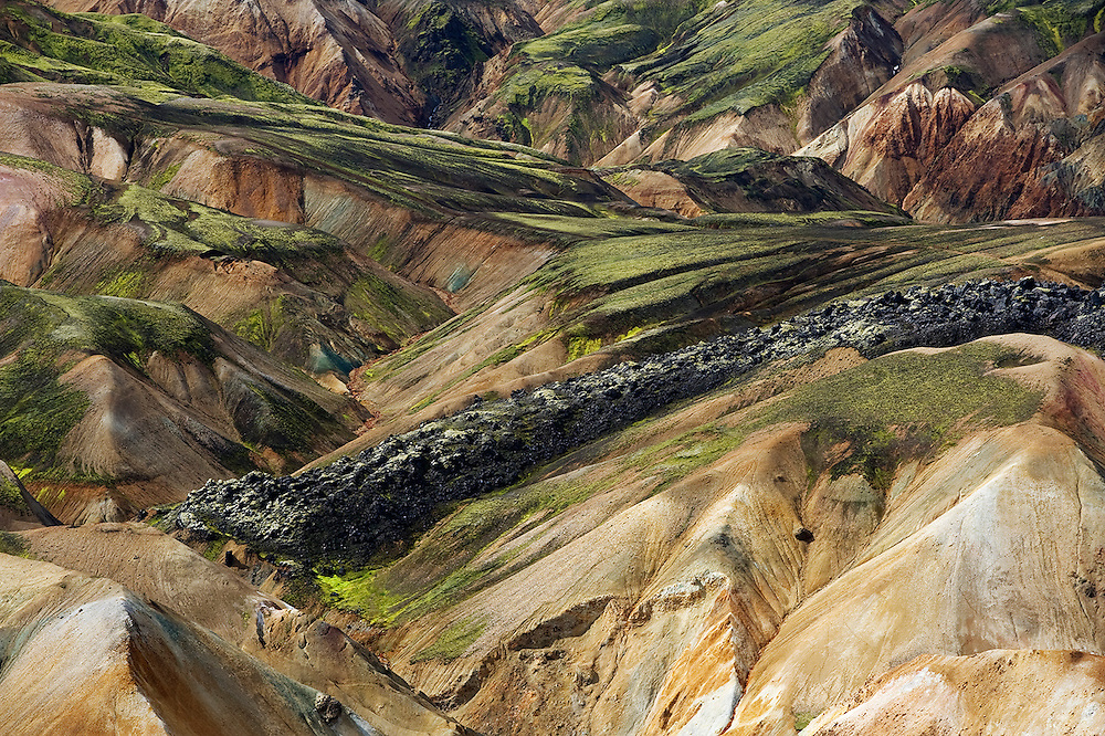 04.08.2008<br /> Solidified lava surface<br /> Landmannalaugar<br /> Rhiolite / rhyolite mountains<br /> Iceland