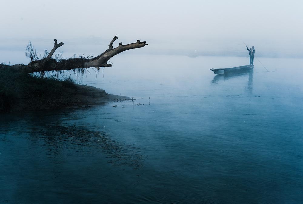 Ferry boatman, Chitwan, Nepal