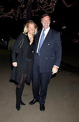 LORD BROCKETT and his fiance HARRIET WARREN at the opening of the Natural History Museum's Ice Rink on 16th November 2005.<br /><br />NON EXCLUSIVE - WORLD RIGHTS