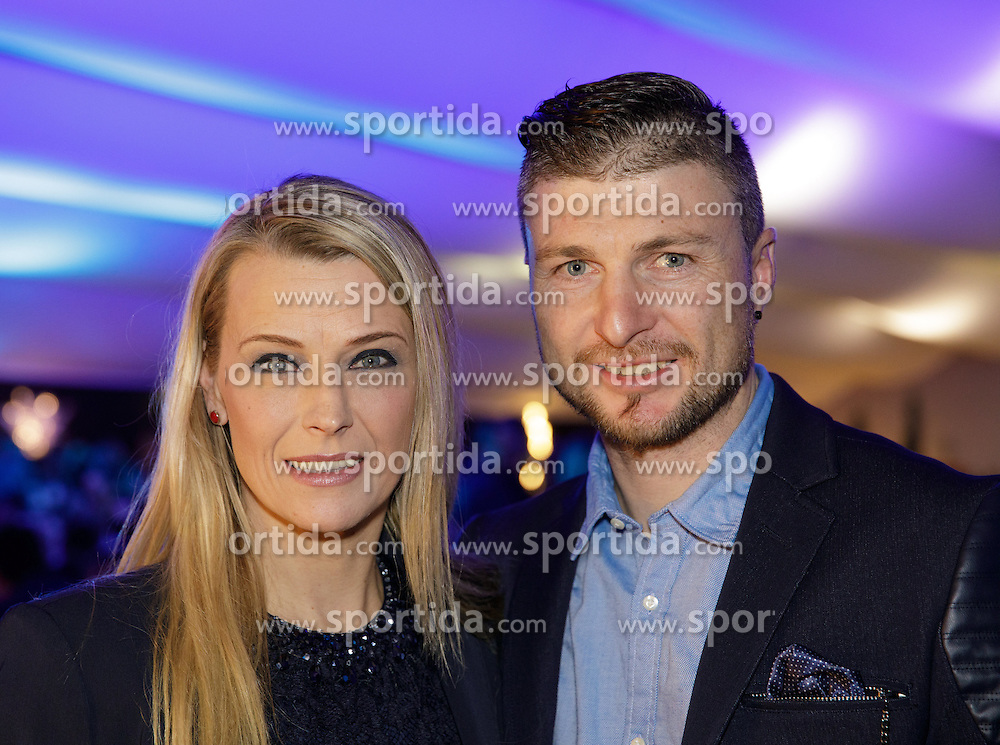 23.01.2017, Planai, Schladming, AUT, FIS Weltcup Ski Alpin, Slalom, Herren, Charity Night, im Bild Reinfried Herbst (AUT) mit Freundin Manuela // Reinfried Herbst of Austria and his girlfriend during the Charity Night prior to the Schladming FIS Ski Alpine World Cup 2017 at the Planai in Schladming, Austria on 2017/01/23. EXPA Pictures © 2017, PhotoCredit: EXPA/ Martin Huber
