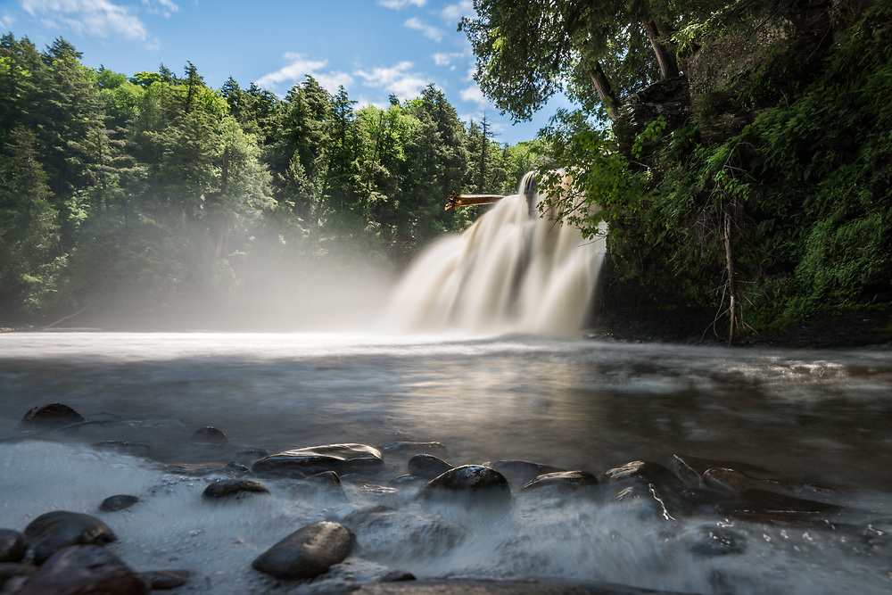 Manabezho Falls after week of heavy rain -<br />