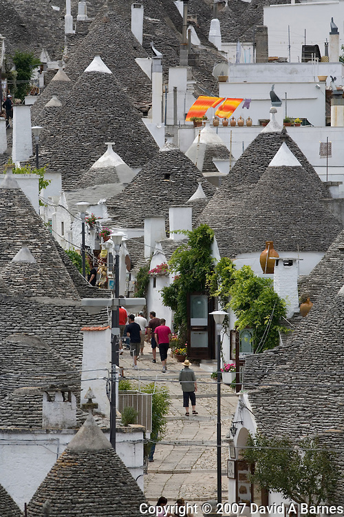 Trulli neighborhood, Alberobello, Apulia, Italy