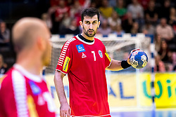 28.10.2018, Raiffeisen Sportpark, Graz, AUT, EHF, Euro Cup, Österreich vs Schweden, im Bild Janko Bozovic (AUT)// during the EHF Euro Cup Match between Austria and Sweden at the Raiffeisen Sportpark, Graz, Austria on 2018/10/28. EXPA Pictures © 2018, PhotoCredit: EXPA/ Sebastian Pucher