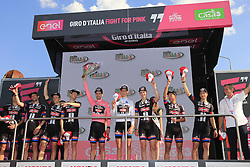 Team Giant-Alpecin also win the superteam award at the end of Stage 2 of the 2016 Giro d'Italia running 190km from Arnhem to Nijmegen, , The Nethrerlands. 7th May 2016.<br /> Picture: Eoin Clarke | Newsfile<br /> <br /> <br /> All photos usage must carry mandatory copyright credit (&copy; Newsfile | Eoin Clarke)