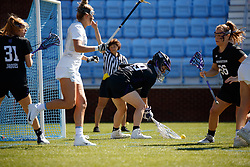 CHAPEL HILL, NC - MARCH 02: Madison Doucette #99 of the Northwestern Wildcats during a game against the North Carolina Tar Heels on March 02, 2019 at the UNC Lacrosse and Soccer Stadium in Chapel Hill, North Carolina. North Carolina won 11-21. (Photo by Peyton Williams/US Lacrosse)