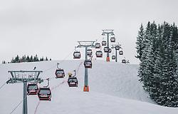 06.02.2020, Zwölferkogel, Hinterglemm, AUT, FIS Weltcup Ski Alpin, Saalbach Hinterglemm, Vorberichte, im Bild Zwölferkogelbahn // Zwoelferkogel Lift before the FIS Ski Alpine World cup at the Zwoelferkogel in Hinterglemm, Austria on 2020/02/06. EXPA Pictures © 2020, PhotoCredit: EXPA/ JFK