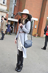 KATIE READMAN at the Hennessy Gold Cup at Newbury Racecourse, Berkshire on 26th November 2011.