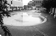 Guitar shaped swimming pool in the city center of Nashville, 2004
