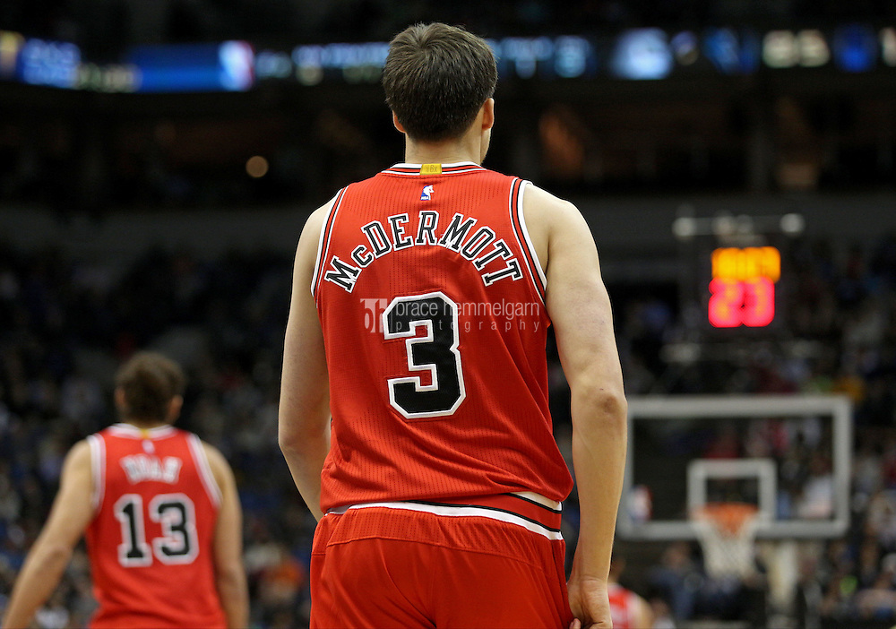 Nov 1, 2014; Minneapolis, MN, USA; Chicago Bulls forward Doug McDermott (3) against the Minnesota Timberwolves at Target Center. The Bulls defeated the Timberwolves 106-105. Mandatory Credit: Brace Hemmelgarn-USA TODAY Sports