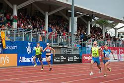 BOTURCHUK Oxana, Guide RYEMYEN Oleksly, MUELLER-ROTTGARDT Katrin, Guide: FRICKE Sebastian, 2014 IPC European Athletics Championships, Swansea, Wales, United Kingdom