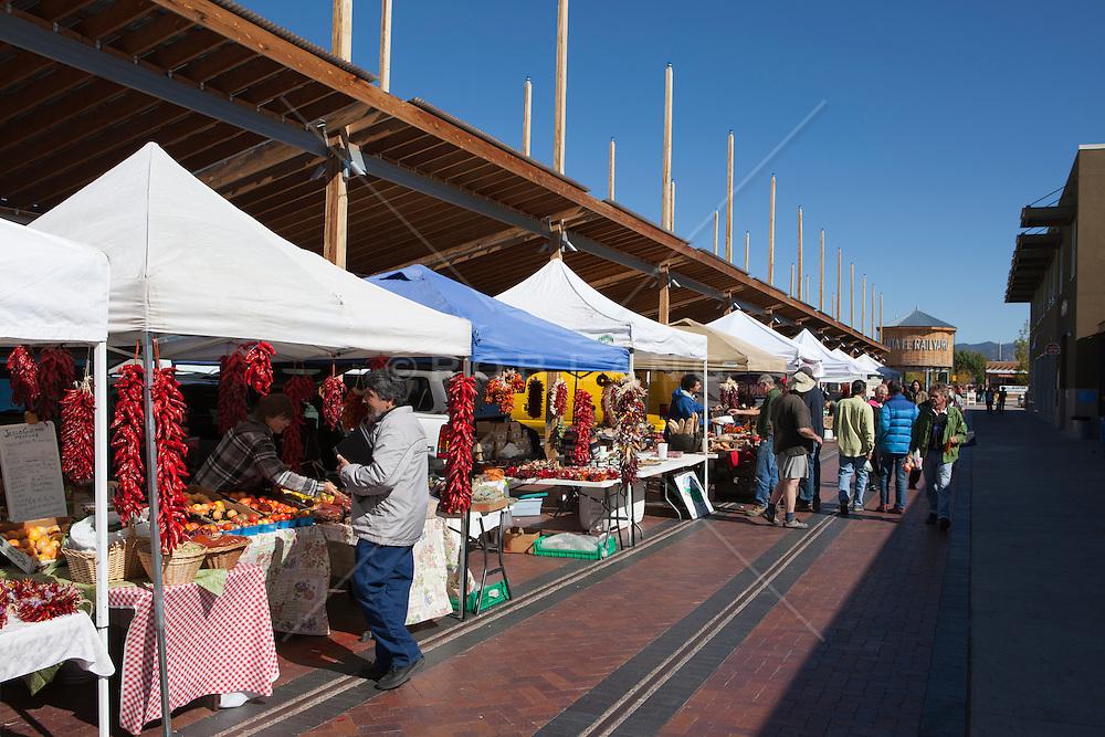 farmers market in Santa Fe, NM