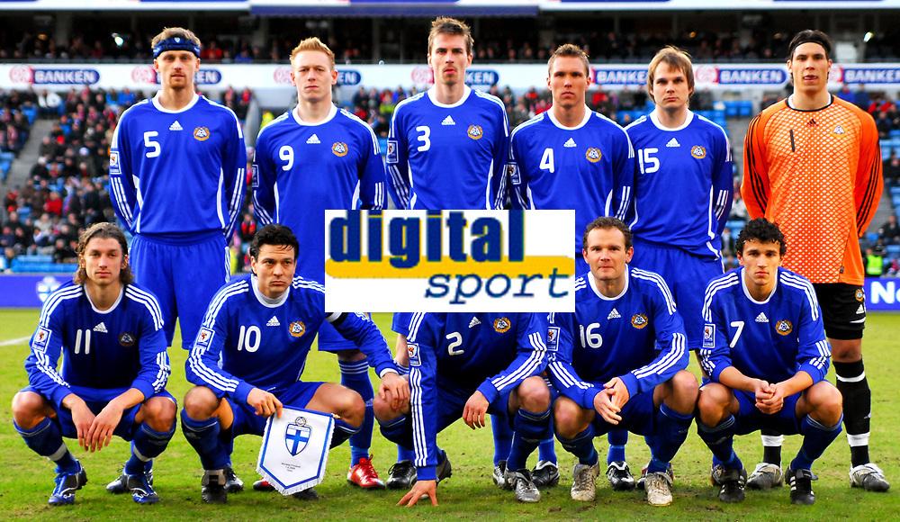 Fotball Privat Landskamp 01.04.2009<br /> Ullevaal Stadium <br /> Norge vs Finland<br /> Norway vs Soumi<br /> <br /> Result  3 -2<br /> <br /> Foto: Jarl Robert Christensen Digitalsport<br /> <br /> Finland Soumi Lagbilde
