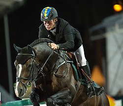 21.09.2013, Rathausplatz, Wien, AUT, Global Champions Tour, Vienna Masters, Springreiten (1.60 m), 1. Durchgang, im Bild Rolf-Goeran Bengtsson (SWE) auf Casall ASK // during Vienna Masters of Global Champions Tour, International Jumping Competition (1.60 m), first round at Rathausplatz in Vienna, Austria on 2013/09/21. EXPA Pictures © 2013 PhotoCredit: EXPA/ Michael Gruber