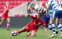 Jodie Brett of Bristol City Women is tackled by Kirsty McGee of Reading Women - Mandatory by-line: Gary Day/JMP - 22/04/2017 - FOOTBALL - Ashton Gate - Bristol, England - Bristol City Women v Reading Women - FA Women's Super League 1 Spring Series