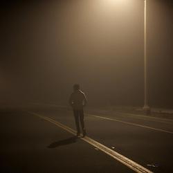 Self-Portrait taken on a foggy New Year's.