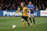 Cambridge No 8 and captain Luke Berry on the ball during the Sky Bet League 2 match between Cambridge United and Carlisle United at the R Costings Abbey Stadium, Cambridge, England on 16 April 2016. Photo by Nigel Cole.