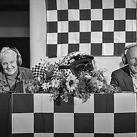 Denise McCluggage and Sir Stirling Moss, Legends of Racing lecture at the Las Campanas Clubhouse, 2013 Santa Fe Concorso.