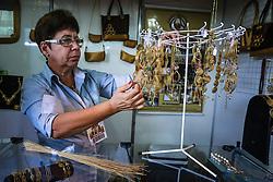 Zeledir Vilareal Oliveira do estande Capim Dourado na Expoargs - Exposição de Artesanato do RS na 38ª Expointer, que ocorrerá entre 29 de agosto e 06 de setembro de 2015 no Parque de Exposições Assis Brasil, em Esteio. FOTO: André Feltes/ Agência Preview