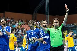 Referee Pirc during handball match between RK Celje Pivovarna Lasso and RD Koper 2013 of Super Cup 2016, on August 27, 2016 in SRC Marina, Portoroz / Portorose, Slovenia. Photo by Matic Klansek Velej / Sportida