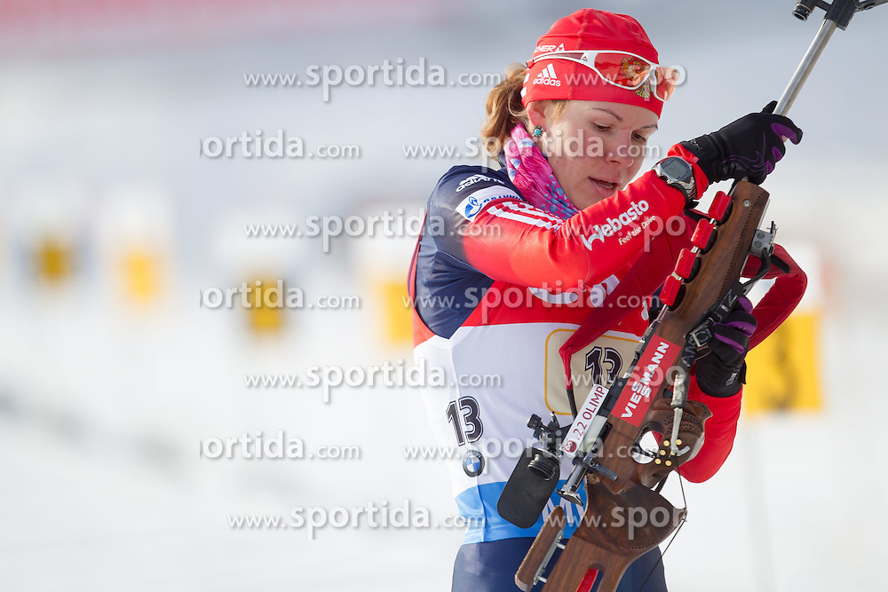 13.12.2014, Biathlonarena, Hochfilzen, AUT, E. ON IBU Weltcup, Staffel, Damen, im Bild Ekaterina Shumilova (RUS) // during Womens Relay of E. ON IBU Biathlon World Cup at the Biathlonstadium in Hochfilzen, Austria on 2014/12/13. EXPA Pictures © 2014, PhotoCredit: EXPA/ JFK