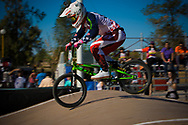 # 95 (NOBLES Barry) USA doing the GoPro run at the UCI BMX Supercross World Cup in Santiago del Estero, Argintina.