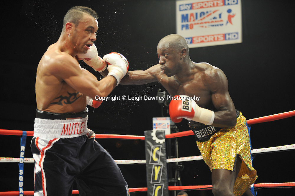 Young Mutley defeats Patrick Bogere at Coventry Skydome, Coventry, United Kingdom on 23rd April 2010. Frank Maloney Promotions.Photo credit: © Leigh Dawney