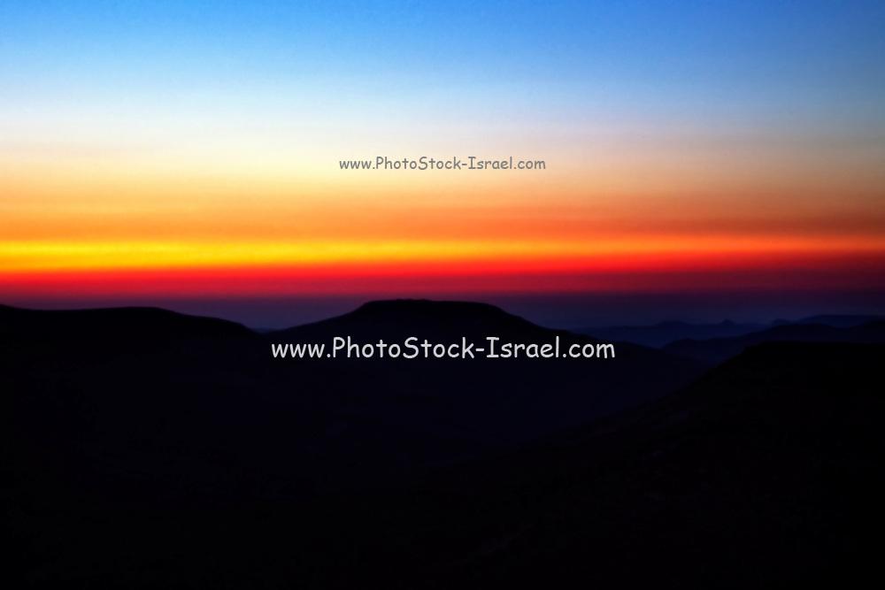 Sunset in the Negev Desert, Israel