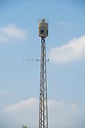 Israel, Tel Aviv, Neve Tzedek,  Air raid siren originally manufactured in Germany by Hermann GmbH Munchen between 1968 and 1975