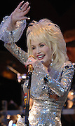 Dolly Parton was on hand at the House of Blues to introduce the actors who will reprise the Film 9 to 5 on the stage of the Pantageous Theatre in September. Photograped in Hollywood, CA 3/28/08 by John McCoy/staff photographer LA Daily News
