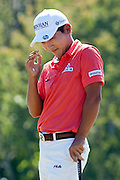 November 14, 2010: Sunghoon Kang of South Korea reacts after missing his birdie putt on the second green of the Magnolia course during third round golf action from The Children's Miracle Network Hospitals Classic held at The Disney Golf Resort in Lake Buena Vista, FL.