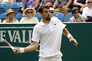 Norrie (GBR) Vs Chardy (FRA) Action at the Nature Valley International Eastbourne 2019, at Devonshire Park, Eastbourne, United Kingdom on 25th June 2019, Picture by Jonathan Dunville