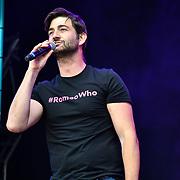 & Juliet performs at West End Live 2019 in Trafalgar Square, on 22 June 2019, London, UK.