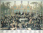 Our National Music', Boston, c1888. Group portrait of musical personalities who could be heard in America including Anton Rubinstein, Albani, Patti, Dvorak, Gounod, Joachim, Richter, Verdi, Sullivan, and many others.