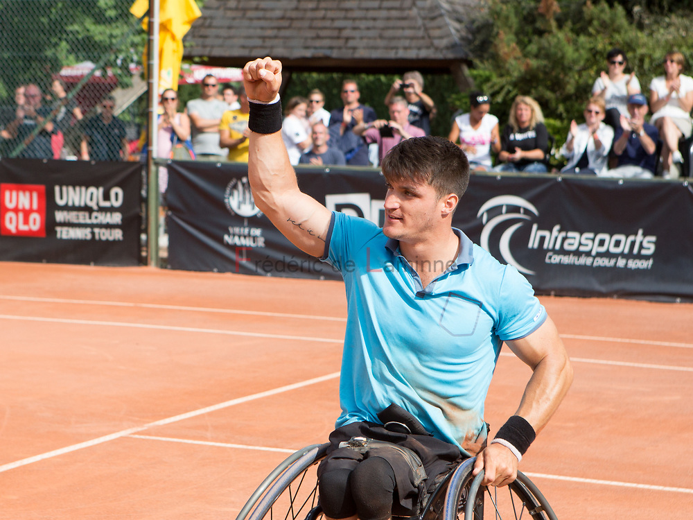 20170730 - Namur, Belgium : Gustavo Fernandez (ARG) wins the  finale against Nicolas Peifer (FRA) at the 30th Belgian Open Wheelchair tennis tournament on 30/07/2017 in Namur (TC Géronsart). © Frédéric de Laminne