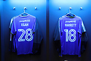 AFC Wimbledon midfielder Alfie Eagan (28) and AFC Wimbledon midfielder Dean Parrett (18) shirts during the The FA Cup 3rd round match between Tottenham Hotspur and AFC Wimbledon at Wembley Stadium, London, England on 7 January 2018. Photo by Matthew Redman.