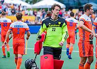 Den Bosch  -  keeper Sam van der Ven (Ned)     tijdens   de Pro League hockeywedstrijd heren, Nederland-Belgie (4-3).     COPYRIGHT KOEN SUYK