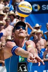 Alison Conte Cerutti of Brazil at A1 Beach Volleyball Grand Slam tournament of Swatch FIVB World Tour 2010, bronze medal, on August 1, 2010 in Klagenfurt, Austria. (Photo by Matic Klansek Velej / Sportida)