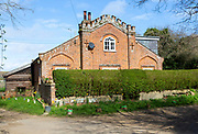 Listed historic building Tower Cottage, Shottisham, Suffolk, England, UK early 19th century Flemish bond brick building