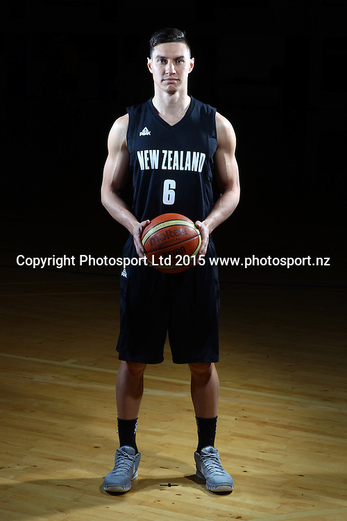 Jarrod Kenny, Tall Blacks, New Zealand national basketball team profile shots. Breakers Gym, Auckland. 17 July 2015. Copyright Photo: William Booth / www.photosport.nz